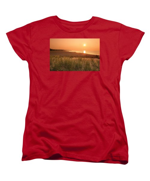 Lake Erie Sunset Women's T-Shirt (Standard Cut) by Garry McMichael