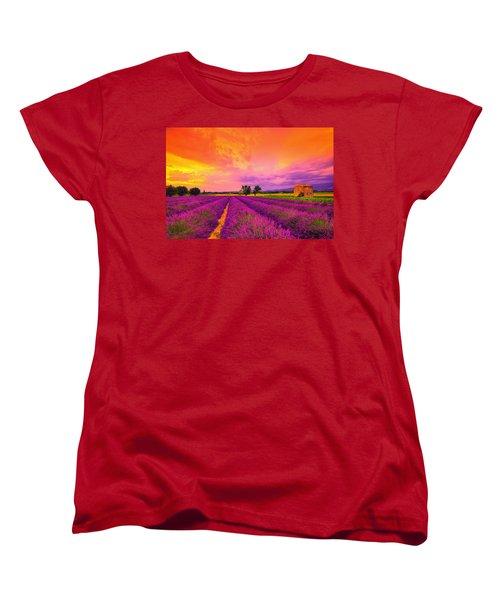 Lavender Sunset Women's T-Shirt (Standard Cut) by Midori Chan