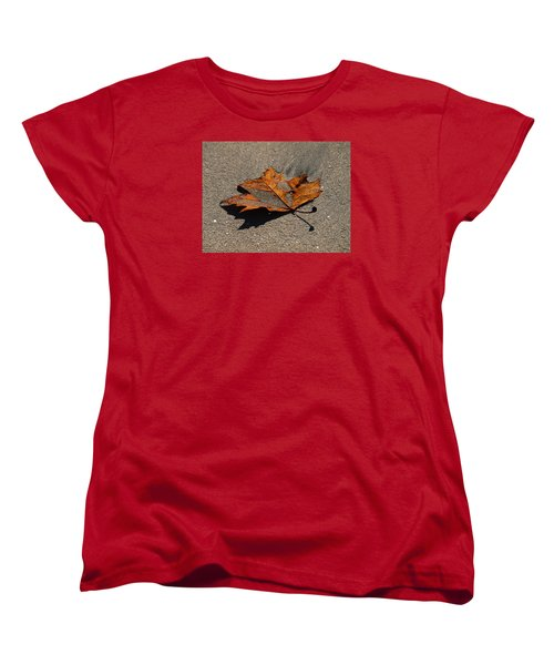 Women's T-Shirt (Standard Cut) featuring the photograph Leaf Composed by Joe Schofield