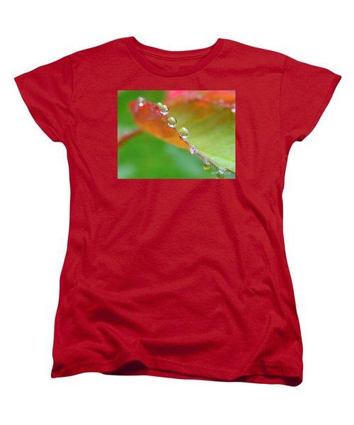 Leaf Pearls Women's T-Shirt (Standard Cut) by Patti Whitten