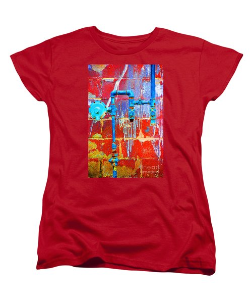 Women's T-Shirt (Standard Cut) featuring the photograph Leaky Faucet by Christiane Hellner-OBrien