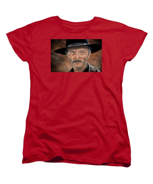 Lee Van Cleef As Angel Eyes In The Good The Bad And The Ugly Version II Women's T-Shirt (Standard Cut) by Jim Fitzpatrick