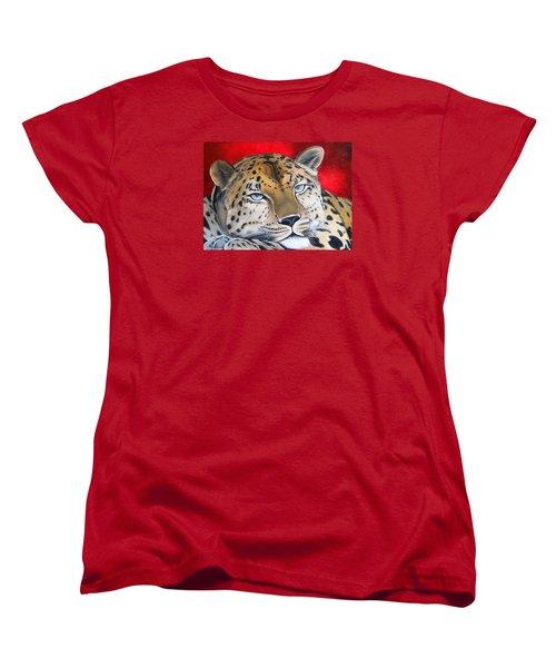 Leopardo Women's T-Shirt (Standard Cut) by Angel Ortiz