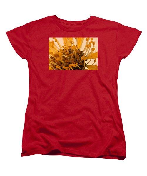 Women's T-Shirt (Standard Cut) featuring the photograph Leopards Bane Flower Macro by Sandra Foster