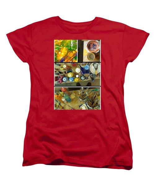 Women's T-Shirt (Standard Cut) featuring the photograph Les Couleurs by Sir Josef - Social Critic - ART