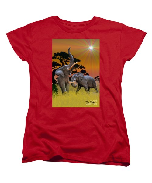 Leviathans Of The Land Women's T-Shirt (Standard Cut) by Dan Stone