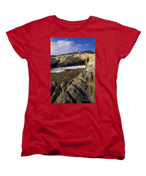 Lifeguard Tower On The Edge Of A Cliff Women's T-Shirt (Standard Cut) by David Millenheft
