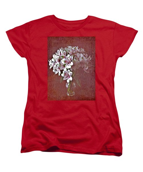 Women's T-Shirt (Standard Cut) featuring the photograph Lilies In Vase by Diane Alexander