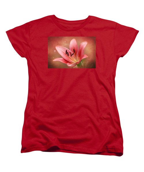 Women's T-Shirt (Standard Cut) featuring the photograph Lily by Ann Lauwers