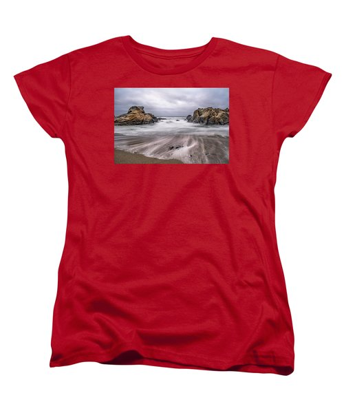 Lines In The Sand Women's T-Shirt (Standard Cut) by Linda Villers