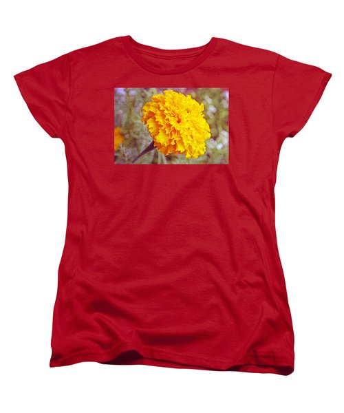 Women's T-Shirt (Standard Cut) featuring the photograph Little Golden  Marigold by Kay Novy