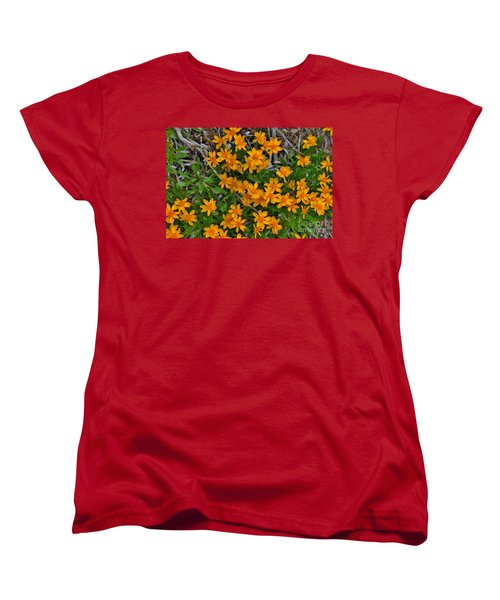 Women's T-Shirt (Standard Cut) featuring the photograph Little Sunflower In The Mountains by Janice Rae Pariza