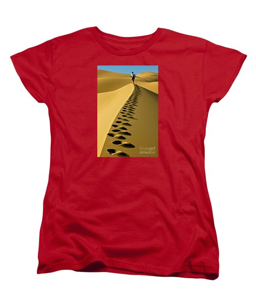 Live On The Edge Women's T-Shirt (Standard Cut) by Michael Cinnamond