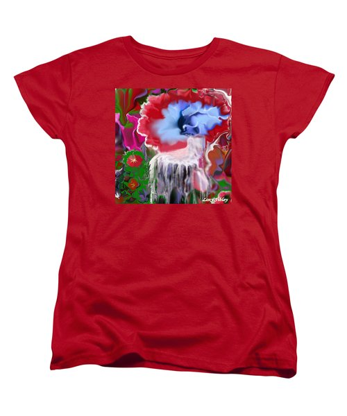 Women's T-Shirt (Standard Cut) featuring the digital art Living Water by Loxi Sibley