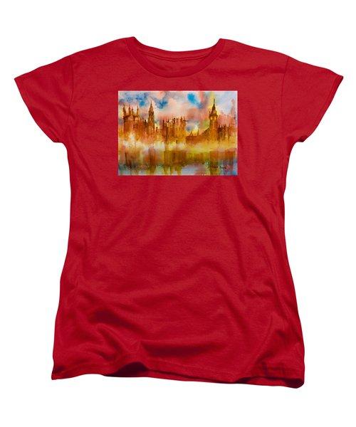 London Rising Women's T-Shirt (Standard Cut) by Debbie Lewis