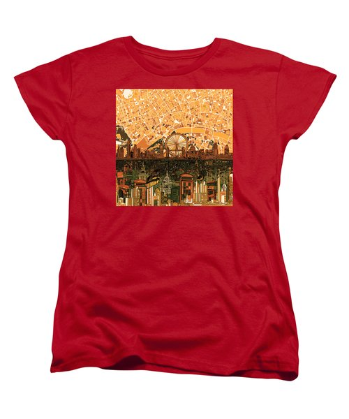 London Skyline Abstract 7 Women's T-Shirt (Standard Cut) by Bekim Art