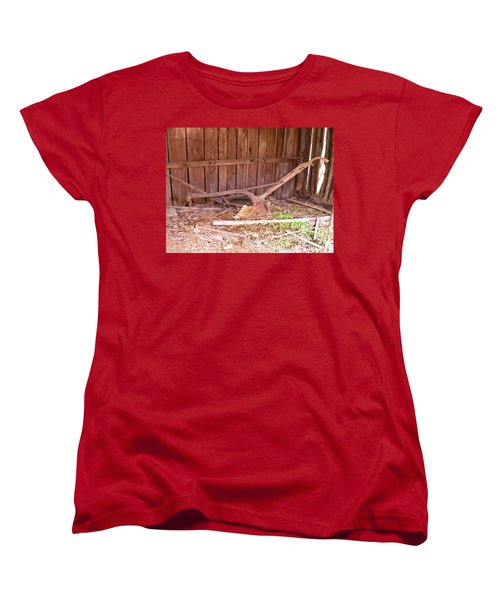 Women's T-Shirt (Standard Cut) featuring the photograph Lone Plow by Nick Kirby