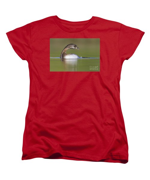 Women's T-Shirt (Standard Cut) featuring the photograph Loss-neck Grebe by Bryan Keil