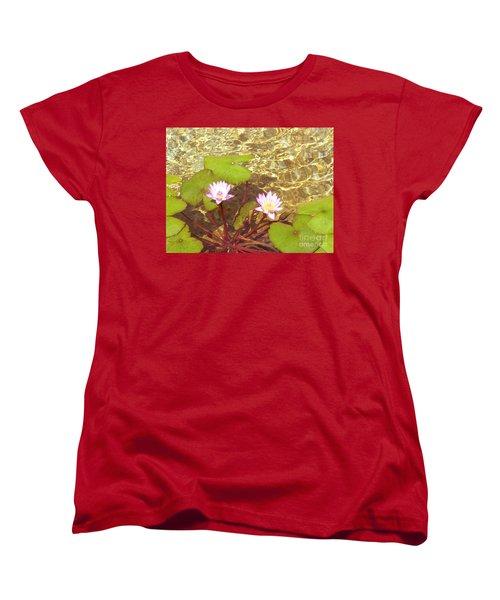Women's T-Shirt (Standard Cut) featuring the photograph Lotus by Mini Arora