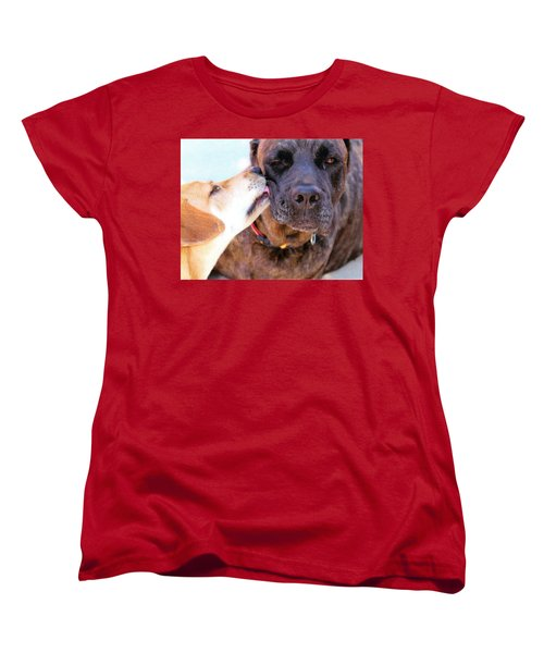 Women's T-Shirt (Standard Cut) featuring the photograph Love Licks by Janice Rae Pariza