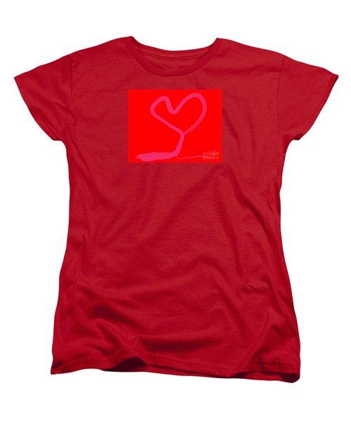 Women's T-Shirt (Standard Cut) featuring the painting Love Tree by Go Van Kampen