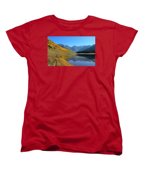 Magical View Women's T-Shirt (Standard Cut) by Fiona Kennard
