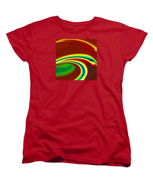 Women's T-Shirt (Standard Cut) featuring the painting Magma  C2014 by Paul Ashby