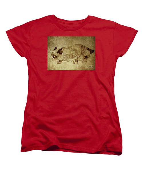 Male Cat Hunts At Night Women's T-Shirt (Standard Cut) by Daniel Yakubovich