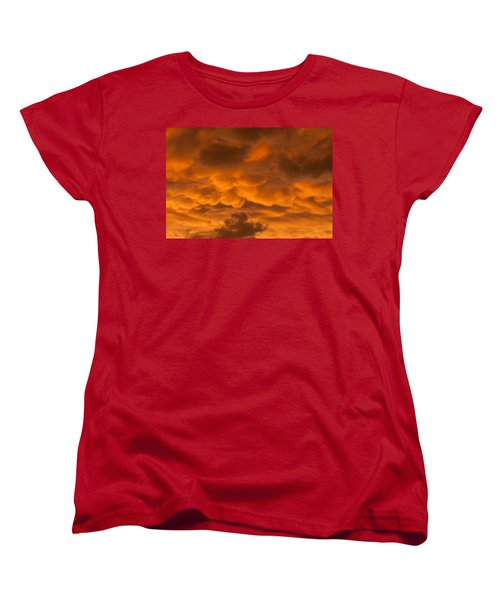 Mammatus Clouds Women's T-Shirt (Standard Cut) by Paul Rebmann