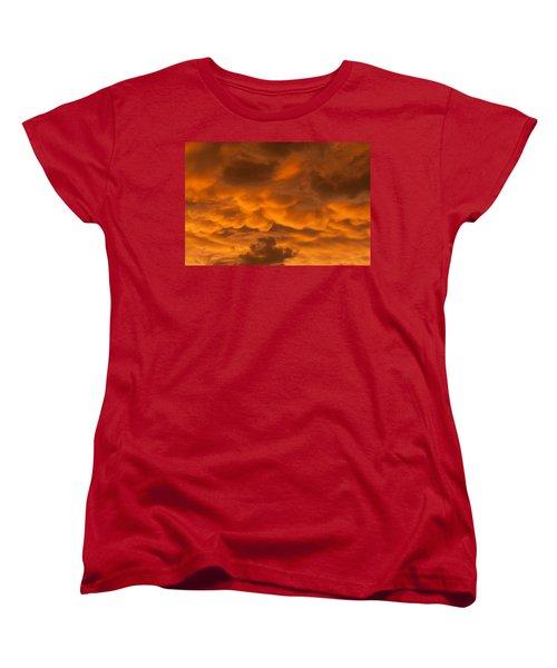 Mammatus Clouds Women's T-Shirt (Standard Cut)