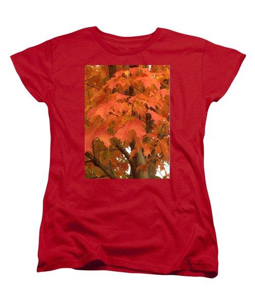 Maple Orange Women's T-Shirt (Standard Cut) by Pema Hou