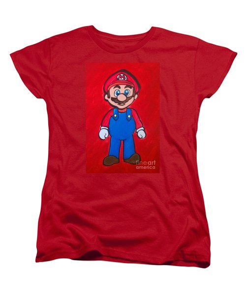 Women's T-Shirt (Standard Cut) featuring the painting Mario by Marisela Mungia