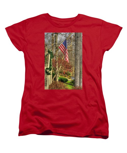 Maryland Country Roads - Flying The Colors 1a Women's T-Shirt (Standard Cut) by Michael Mazaika