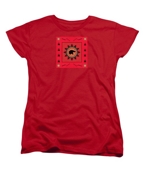 Women's T-Shirt (Standard Cut) featuring the photograph Mato Wakan . . Sacred Grizzly  by I'ina Van Lawick