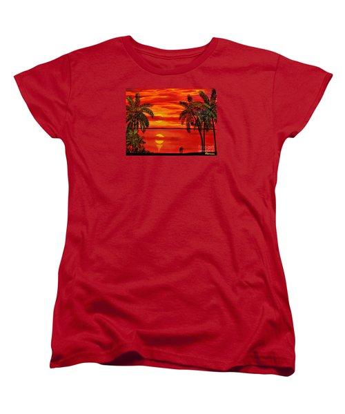 Maui Sunset Women's T-Shirt (Standard Cut) by Teresa Wegrzyn