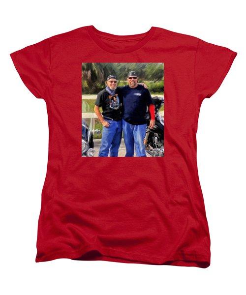 Me N' Bro Women's T-Shirt (Standard Cut) by Michael Pickett