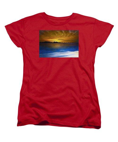 Mediterranean Sunrise Women's T-Shirt (Standard Cut) by Hanny Heim