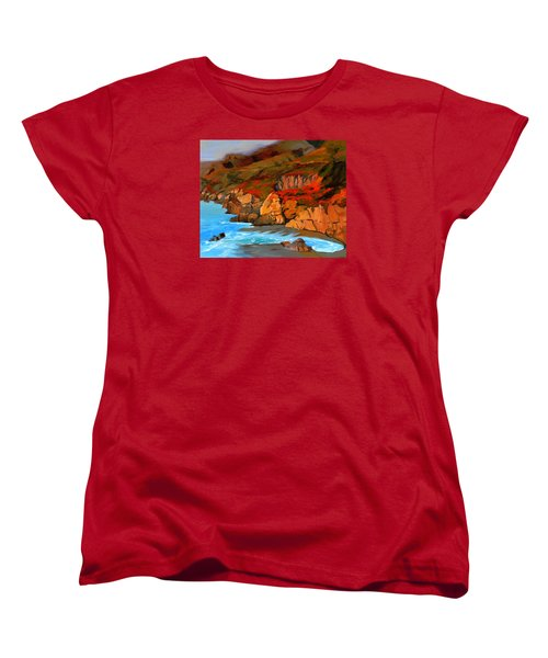 Mendocino Coast Women's T-Shirt (Standard Cut) by Alice Leggett