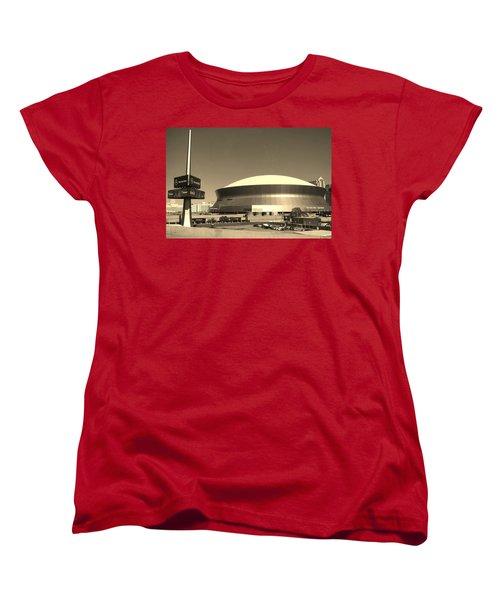 Mercedes Benz Superdome - New Orleans La Women's T-Shirt (Standard Cut) by Deborah Lacoste