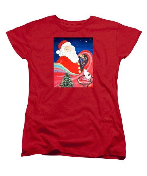 Merry Christmas To All Women's T-Shirt (Standard Cut) by Phyllis Kaltenbach