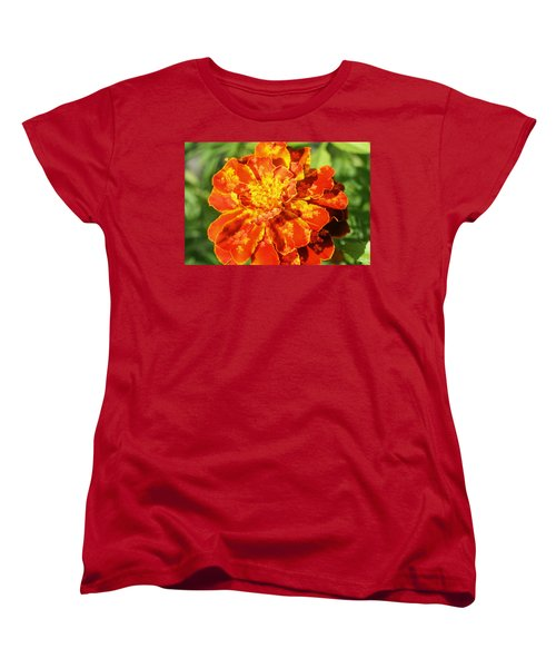 Merry Marigold Women's T-Shirt (Standard Cut) by Barbara S Nickerson