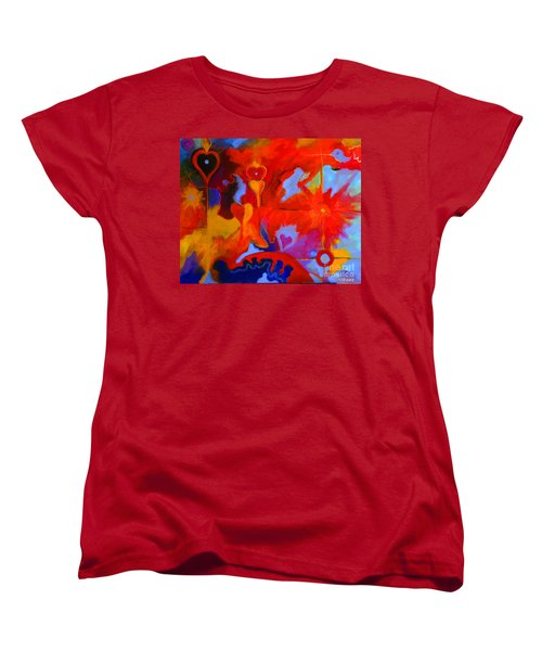 Women's T-Shirt (Standard Cut) featuring the painting Message Of Love by Alison Caltrider