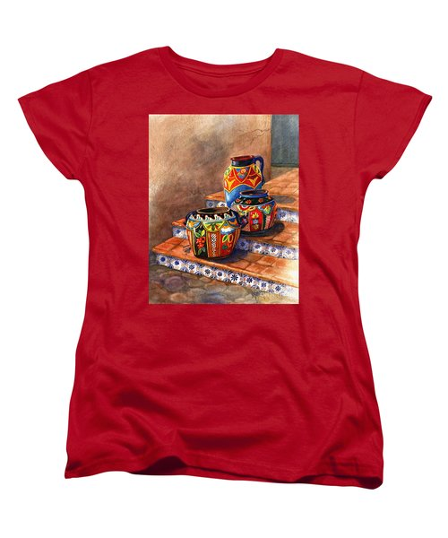 Mexican Pottery Still Life Women's T-Shirt (Standard Cut) by Marilyn Smith