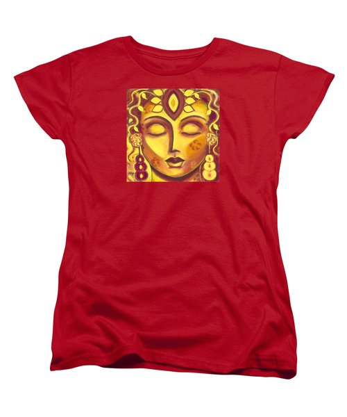 Women's T-Shirt (Standard Cut) featuring the painting Mining Your Jewels by Anya Heller