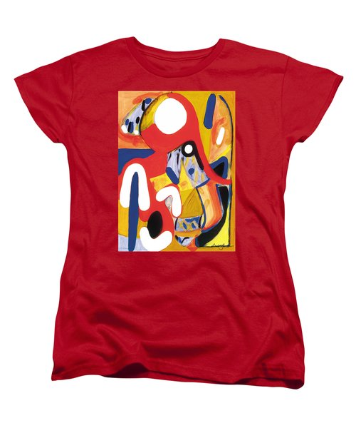 Women's T-Shirt (Standard Cut) featuring the painting Mirror Of Me 2 by Stephen Lucas