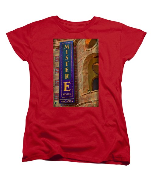 Mister E Hotel - Vacancy Sign Women's T-Shirt (Standard Cut) by Liane Wright