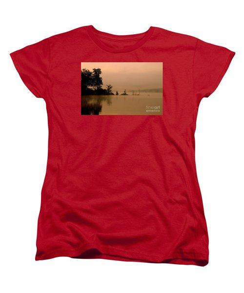 Misty Morning Solitude  Women's T-Shirt (Standard Cut) by Neal Eslinger