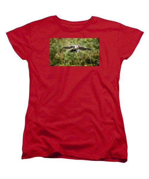 Mockingbird In Flight Women's T-Shirt (Standard Cut) by Bill Wakeley