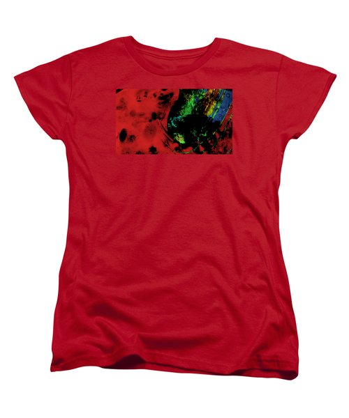 Women's T-Shirt (Standard Cut) featuring the mixed media Modern Squid by Ally  White