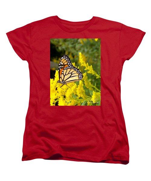 Women's T-Shirt (Standard Cut) featuring the photograph Monarch by Sara  Raber